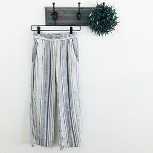 Drew Blue Stripe Wide Leg Casual Pants XS